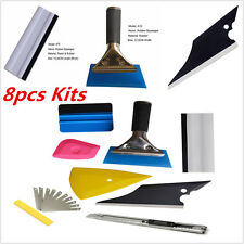 Universal 8pcs Car Window Tint Squeegee Film Install Wrapping Applicator Tools