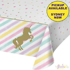 UNICORN SPARKLE PARTY SUPPLIES PLASTIC TABLECLOTH BIRTHDAY TABLE COVER