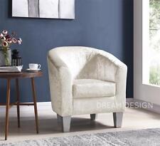 Velvet Tub Chair Designer Armchair Living Dining Room Office Various Colours NEW