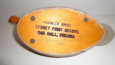 Hornick Bros Stoney Point Decoys Signed 1982