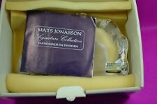 Mats Jonasson Swedish seal art glass paperweight signed boxed 1984 mint