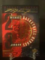 Rare: 1994 94 Upper Deck Basketball Heroes Michael Jordan #JH, Gold Signature!