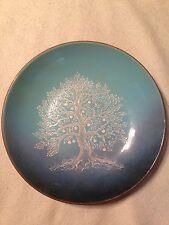 "Signed Serge Nekrassoff ""White Tree"" Hand Painted Enamel on Copper Plate 10 3/4"""