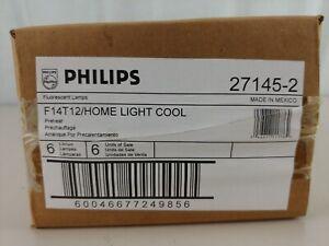 "6 Philips 15"" F14 T12 Fluorescent HOME LIGHT (27145-2) 4100K Cool"