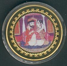 """1 Coin(gilded)/Medal 40mm, 27g, Kamasutra """"Tempelstellung"""" Proof Like+Zertifikat"""