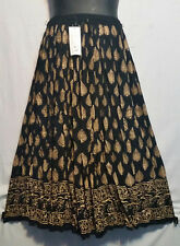 Women's Clothing Long Rayon Skirt Sequin Gypsy Hippie Black Purple Free Size