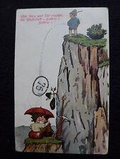 CPA - UBER BERG UND TAL RAFCHT DER WATTERFALL cachet  de 10/7/1913 humour