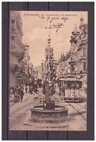 Ansichtskarte - Freiburg i. Br. - Fischbrunnen in der Kaiserstraße 1907 AK