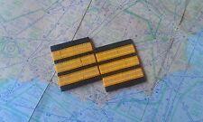 3 bars pilot epaulettes first officer gold stripes galones piloto epaulette