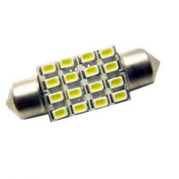 Auto 1Pc  Interior Dome Festoon Bulb Reading Licence amp White 16 SMD LEDs Lamp