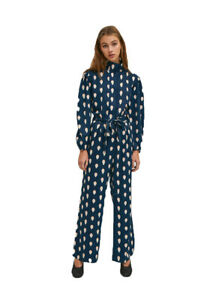 Long turtleneck jumpsuit with hard-boiled egg print by Compania Fantastica