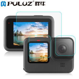 PULUZ For GoPro HERO 9 Black Lens + LCD Display Tempered Glass Film
