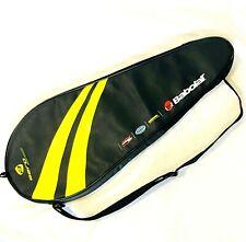 Babolat Aero Series Tennis Racket Bag Case Black Yellow Heavy Padded Zip Handle