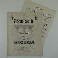 DRDLA souvenir for violin & piano , vintage