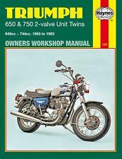 0122 Haynes Triumph 650 & 750 2-valve Unit Twins (1963 - 1983) Workshop Manual