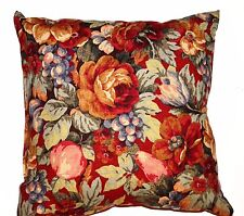 Handmade Home Decorating Red Fruit and Floral Decorative Pillow