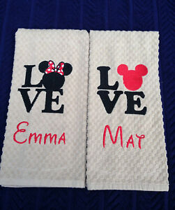 Love Mickey & Minnie - Monogramed - Personalized - Made To Order