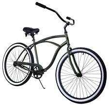 Zycle Fix Classic Beach Cruiser Men Bicycle Bike Black Army Green NEW