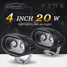 2x 6D 4inch 20W Oval Led Driving Work Light Pods Dirt Bike ATV Driving Fog Flood