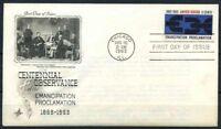 Stati Uniti 1963 Mi. 846 Primo Giorno 100% proclama di emancipazione