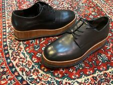 MATISSE BEAUX BLACK LEATHER PLATFORM BAMBOO LACES 6 M OXFORDS NEW STORE DISPLAY