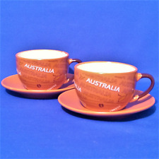 2 x Australia Coffee Cups + Saucers - Mint Condition