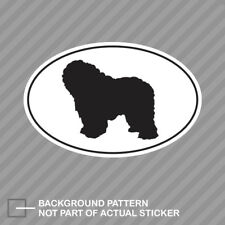 Polish Lowland Sheepdog Euro Oval Sticker Decal Vinyl dog pet