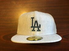 *New* Los Angeles Dodgers New Era Hype 59FIFTY Fitted Hat, Heathered Gray Size 7