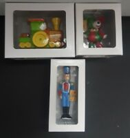 Set of 3 Chet Spiewak Ornaments Limited Edition Authors Edition Train Bear