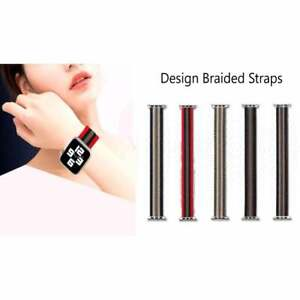 Compatible Apple Watch Straps Braided Pattern Elastic Different Size High Qualit