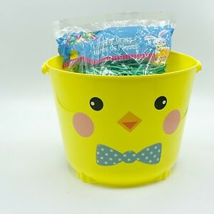 Easter Basket and Bag Of Grass Filler Chickie Gift Holiday