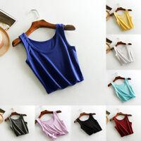 Cotton Vest Sport No Rims Bra Yoga Gym Braces Candy Color Women Girl Crop Tops