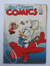 WALT Disney's Comics & Stories # 34 US Dell 1943 Carl Barks + Kelly VG -