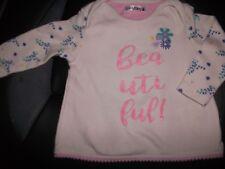 Ladybird Girls Cream Long Sleeved Floral Print Top Age 3-6 Months