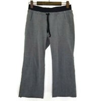 Athleta Womens Size 4 Allegro Capri Loose Gray Drawstring Cropped Pants 405068