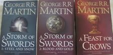 George R. R. Martin, A Storm of Swords #1 & #2, A Feast for Crows, Song Ice Fire