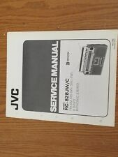 JVC RC-828 Stereo Radio cassette recorder boombox Original Service manual
