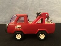Vintage Buddy L Red Tow Truck Pickup Toy Truck. Steel Truck. Adjustable Tow Hook