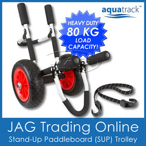 AQUATRACK SUP STAND-UP PADDLE BOARD TROLLEY-Ski/Surfboard Folding Aluminium Cart