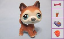 Littlest Pet Shop #68 Brown White Husky Puppy Dog+ 1 FREE Access. 100% Authentic