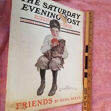 SATURDAY EVENING POST Magazine- OCT 17 1908 -  -GREAT ADS -FreeSHIP