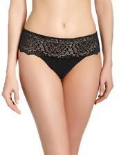 NEW Simone Perele Caresse boyshort  brief panty black size 2 Small  12a630