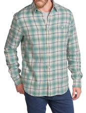 $148 NWT - FAHERTY Men's SIGNATURE WASHED TWILL Plaid LONG SLEEVE SHIRT  - L