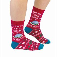 Turkey Still Frozen Christmas Socks UK 4-8 Womens Festive Novelty Funny Mum Gift