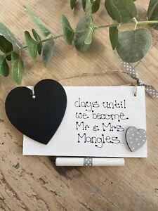 Personalised Engagement Couple Gift Present Keepsake Wedding Engagement