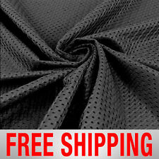 "Black Football Mesh Jersey Fabric - 60"" Wide - Style# 734718 - Free Shipping"