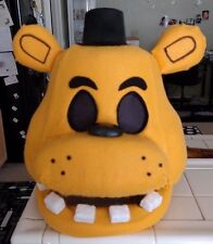 Golden Freddy Costume Mask!  Moveable Jaw!  FNAF!! Five Nights at Freddy's