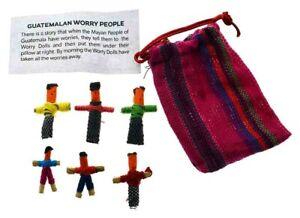 Worry Dolls People In Bag  Guatemalan Folk Tradition