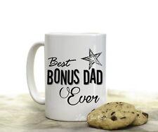 Best Bonus Dad Ever Coffee Mug for Stepdad Stepfather Coffee Cup 15 ounce