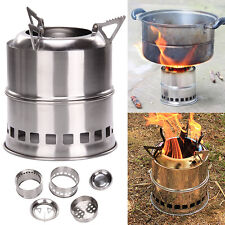 Outdoor Portable Wood Burning Stove Stainless steel Alcohol Stove Picnic Party